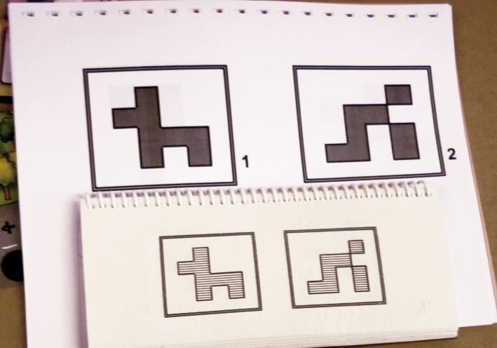 Chaque jeu est accompagné d'une adaptation tactile, grand caractère en noir et blanc et une version en braille.